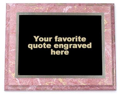 Engravers Etc Custom Quote Plaque